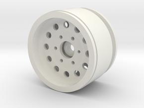 "1.9"" Beadlock Wheel with 12mm Hex in White Natural Versatile Plastic"