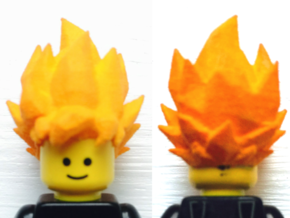 Custom Goku SSj1 Inspired Lego in White Strong & Flexible