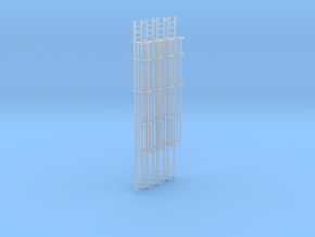 'HO Scale' - (4) 30' Caged Ladder in Smooth Fine Detail Plastic