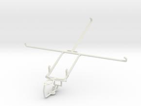 Controller mount for PS3 & Lenovo IdeaTab S6000 in White Natural Versatile Plastic
