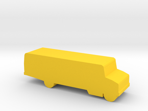 Game Piece, School Bus in Yellow Strong & Flexible Polished