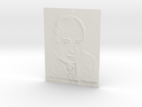 John von Neumann Shadowgram in White Strong & Flexible