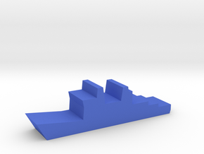 Game Piece, Blue Force Destroyer in Blue Processed Versatile Plastic
