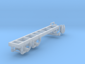 1/64th Tandem axle frame, suitable for KW CBE in Frosted Ultra Detail