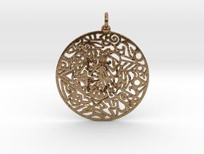 Zendala pendant in Natural Brass