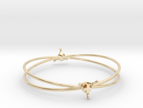 PositiveSplash bracelet in 14k Gold Plated Brass
