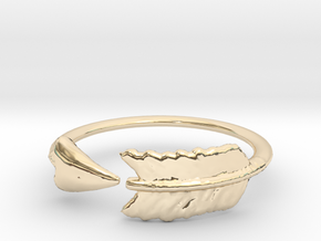 Arrow Ring in 14k Gold Plated Brass: 3 / 44