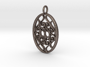 Classic Filigree in Polished Bronzed Silver Steel