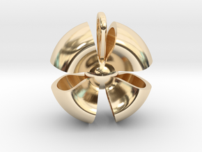 Ribbon small in 14k Gold Plated Brass