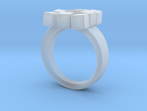 Irregular Cube Ring in Smooth Fine Detail Plastic