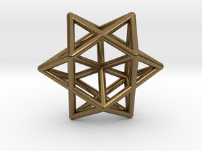 Star Pendant #1 in Natural Bronze
