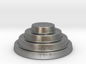 Devo Hat   15mm diameter miniature / NOT LIFE SIZE in Natural Silver