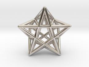 Star Pendant #2 in Rhodium Plated Brass