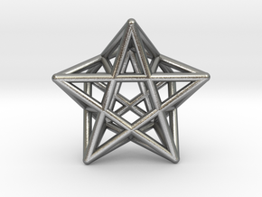 Star Pendant #2 in Natural Silver