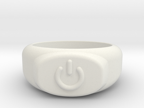 Power Ring  in White Natural Versatile Plastic