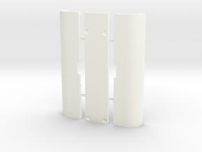 SX Mini Dual Doors in White Processed Versatile Plastic