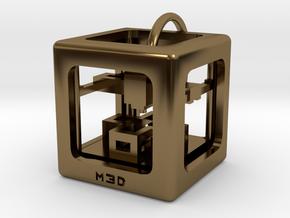 3D Printer Pendant in Polished Bronze