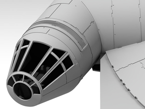 Millennium Falcon Nose Cone DeAg Studio Scale  in Frosted Ultra Detail
