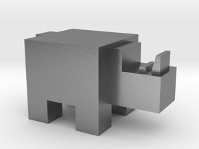 Cubicle Rhino in Natural Silver