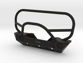 JK Winch Bumper - SCX10 Tabs in Black Natural Versatile Plastic