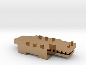 Brick Croc in Polished Brass