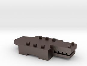 Brick Croc in Polished Bronzed Silver Steel