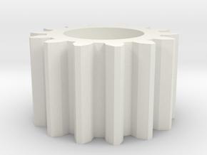 Jodocast's Roughcut Gear  in White Natural Versatile Plastic
