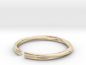 Mobius Hearts Ring in 14k Gold Plated Brass