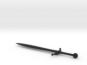 Sword 020 B in Black Natural Versatile Plastic