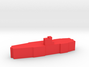 Game Piece, WW2 Akagi Carrier in Red Processed Versatile Plastic