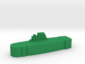 Game Piece, WW2 Yorktown Carrier in Green Processed Versatile Plastic