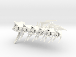 Articulated Predaking Tail (standard) in White Strong & Flexible Polished
