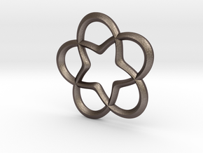 Star Pendant in Polished Bronzed Silver Steel
