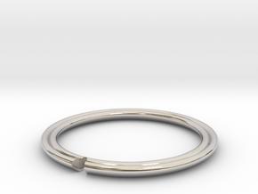 Secret Hidden Heart Ring (Size 9) in Rhodium Plated Brass