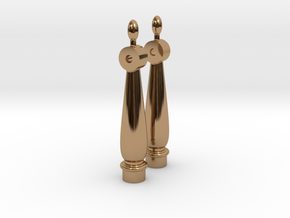 Pair Bell Supports in Polished Brass