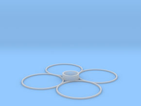 Cheerson CX-10 Quadcopter Prop Guards in Smooth Fine Detail Plastic