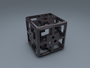 6-Sided Dice - Standard (1.5cm) in Black Strong & Flexible
