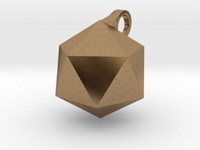 Icosahedron - Pendant in Natural Brass