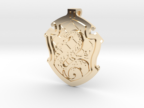 Slytherin House Crest - Pendant SMALL in 14k Gold Plated Brass