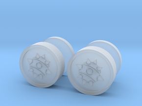Team Fortress 2 Demoman Cufflinks in Smooth Fine Detail Plastic