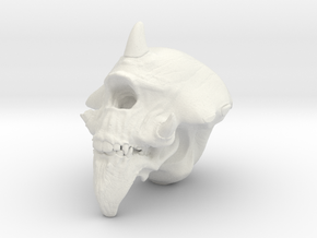 Cyclops Skull in White Strong & Flexible