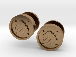 Team Fortress 2 Heavy Cufflink in Natural Brass