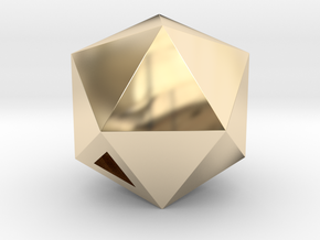 Icosahedron - small / hollow in 14K Yellow Gold