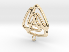 Triangle Fusion Pendant in 14K Yellow Gold