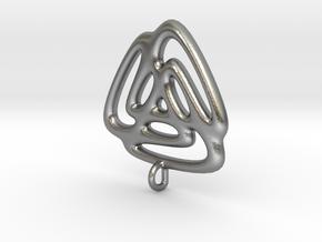 Triangle Fusion Pendant in Natural Silver