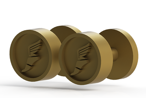 Team Fortress 2 Scout Cufflink in Polished Gold Steel