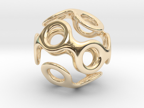 Wrapped Eyes #3 in 14k Gold Plated Brass