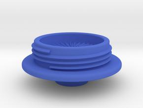Virb Stem Cap Flat Mount in Blue Processed Versatile Plastic