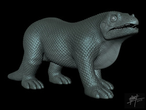 Iguanodon retro 1/40 in White Strong & Flexible