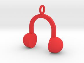 Music Pendant in Red Processed Versatile Plastic